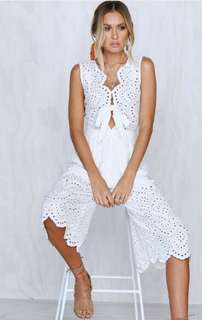 WHITE JUMPSUIT NEW WITH TAGS