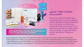 Enjoy savings and gifts with total WORTH $800 !!! ageLOC TR90 System