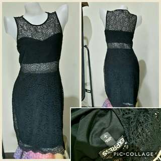 Express black laced dress