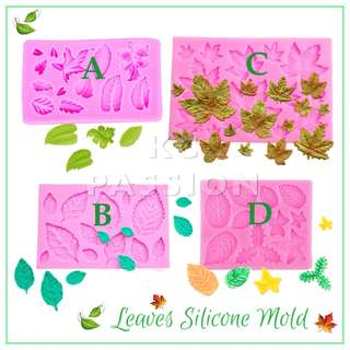 🍃 LEAF • LEAVES SILICONE MOLD TOOL for Pastry • Chocolate • Fondant • Gum Paste • Candy Melts • Jelly • Gummies • Agar Agar • Ice • Resin • Polymer Clay Craft Art • Candle Wax • Soap Mold • Chalk • Crayon Mould •
