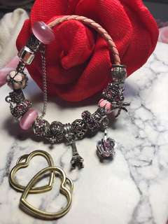 Pink bracelet 粉紅色民族風手鏈