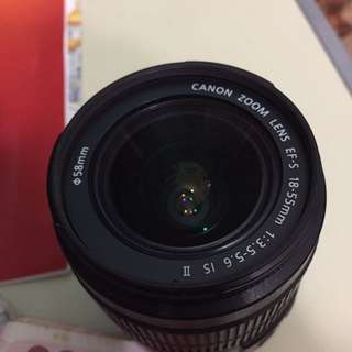 CANON ZOOM LENS EF-S 18-55mm F/3.5-5.6 IS II (READ DESCRIPTION)