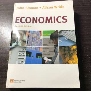 Economics Text Book (John Sloman & Alison Wride)  A Level / Uni @ $15