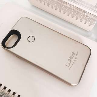 Authentic LuMee Two selfie light up iphone case gold