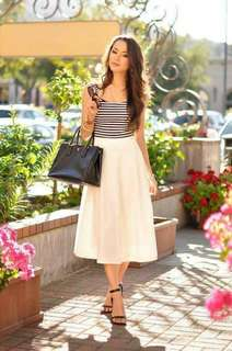 Stripe croptop terno skirt