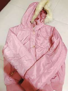🚚 Forever21 粉紅色羽絨衣