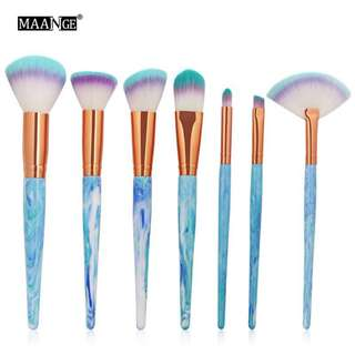 🦋MAANGE 7Pcs/SET Marble Texture Makeup Brushes Tool Kits🦋