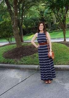 Long stripe maxi dress