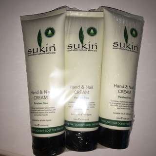 Sukin Nail & Hand Cream - 3 PACK BUNDLE