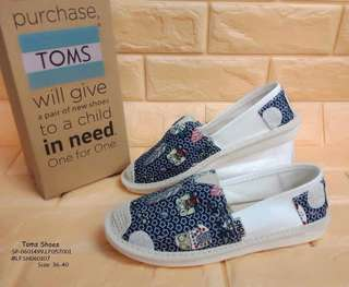 TOMS SHOES  Size: 36,37,38,39,40 Always Provide Euro Size  Price : 800