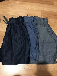 Variety of summer shorts with pockets + adjustable waist