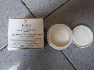 Deep moisture clarifying cream 24 hour hydration KIEHLS clearly corrective white