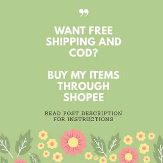 Want Free Shipping and COD?