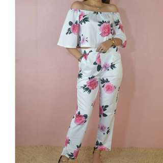 TERNO OFF SHOULDER AND PANTS