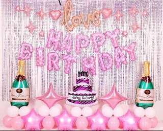 Happy birthday Foil balloons.