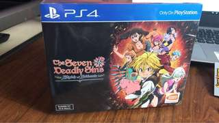 Ps4 Brand New Sealed The Seven Deadly Sins Knights of Birtannia collection