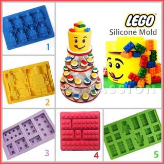 🎂 LEGO SILICONE MOLD TOOL for Pastry • Chocolate • Fondant • Gum Paste • Candy Melts • Jelly • Gummies • Agar Agar • Ice • Resin • Polymer Clay Craft Art • Candle Wax • Soap Mold • Chalk • Crayon Mould •
