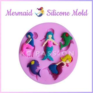 🧜‍♀️ MERMAID SILICONE MOLD TOOL for Pastry • Chocolate • Fondant • Gum Paste • Candy Melts • Jelly • Gummies • Agar Agar • Ice • Resin • Polymer Clay Craft Art • Candle Wax • Soap Mold • Chalk • Crayon Mould •