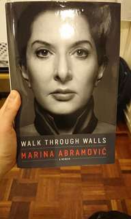 Brand new book, walk through walls Marina Abramovic