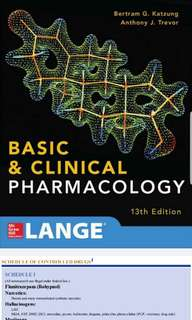 Basic and Clinical Pharmacology 13th Ed (Pharmacy PDF Book)