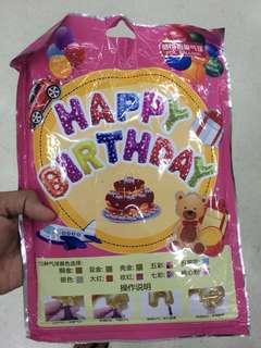 Happy Birthday Foil Balloon. 🎈