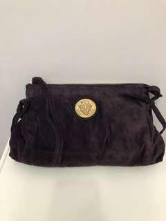Gucci vintage purple velvet clutch