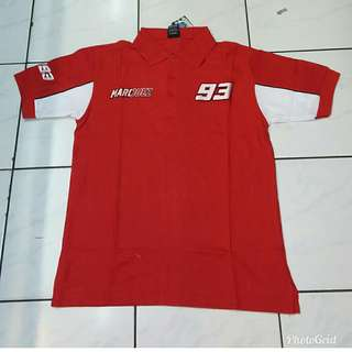 Poloshirt Marquez Red White
