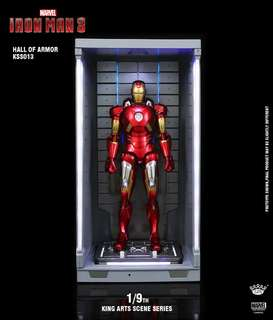 King Arts Iron Man Mark 7 with Hall of Armour