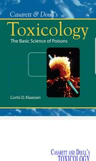 CASARETT AND DOULL'S TOXICOLOGY THE BASIC SCIENCE OF POISONS Seventh Edition