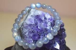 灰月光石手串 Gray Moonstone Bracelet