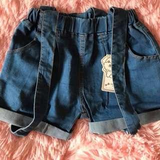 🚚 💟★夏季必備★☑現貨 大小童 現貨女童吊帶短褲💟