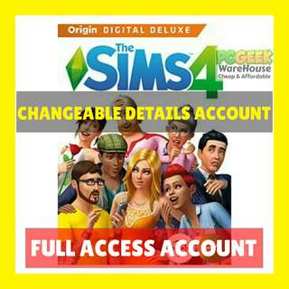 SALE THE SIMS 4 DELUXE FULL ACCESS ACCOUNT PC | MAC | WINDOWS | MACINTOSH GAME