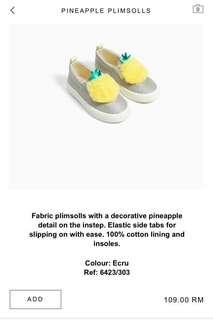 Pineapple Plimsolls Zara