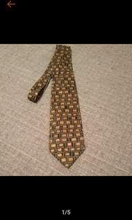 🚚 古著 Mulberry 手畫風風格 復古領帶 VINTAGE領帶 絲質領帶 寬版領帶