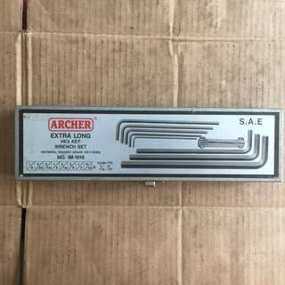 Hand Tool - Archer Extra Long Hex Key Wrench Set