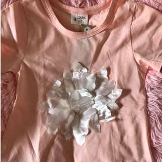 🚚 💟★夏季必備★☑現貨 大小童 現貨女童花朵造型短袖T💟
