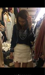 🚚 轉賣正韓小衣櫥鬆緊褲頭白色褲裙