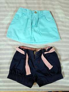 Shorts & mini skirt (take both for Php 300)