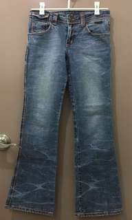 AUTHENTIC Faded Lee Pipes Flared Leg Denim Jeans