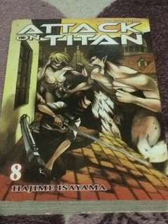 Attack on titans manga vol8 phil edition