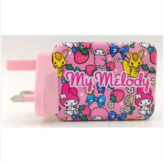 My Melody USB 旅行充電器