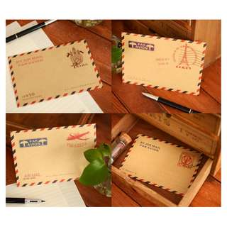 Mini Retro Vintage Kraft Paper Envelope