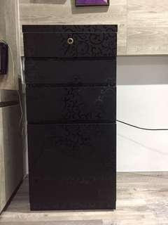 Customised Black Patterned Drawers