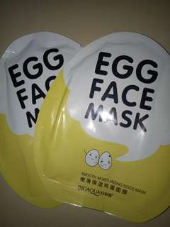 Bioaqua egg face mask / smooth moisturizing egg mask