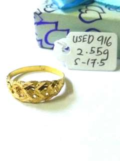 (Authentic Used 916) Cincin Size 17.5