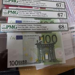 Euro pmg 68 EPQ 100 European union unc