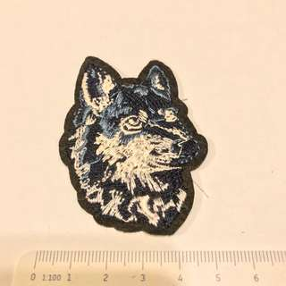 Sewn On patch - wolf