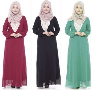Embroided Jubah Dress