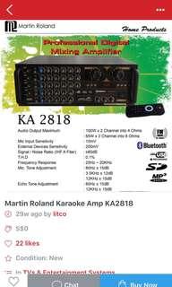 Promotion offer Martin Roland Digital mixing amp KA-2818
