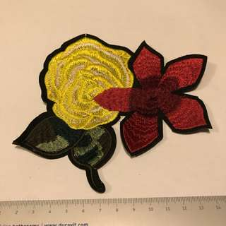 Iron On Patches - yellow rose